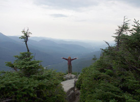 On the rim trail on Cannon Mountain in NH
